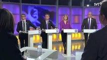 Partiledardebatt 7-10-12 om massinvandringen, sju partier är enade om att öka den utom SD.