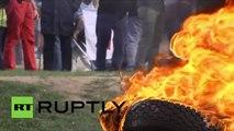 Les agriculteurs ont mis le feu au centre de Paris
