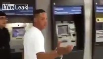 ATM fraudster caugh in the act is exposed and humiliated by brazilian cops