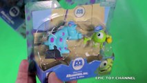 MONSTERS INC Play Set SULLY, BOO + MIKE WASOWSKI MONSTERS UNIVERSITY MONSTERS INC