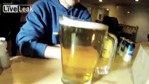 Guy Chugs Entire Pitcher of Beer