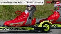 Roller Skiing Technique Material differences Roller skis ski roller shoes poles sportalbert de