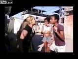 Brazilian Catfight(?): Effeminate Boy vs. Girl (Place Your Bets)