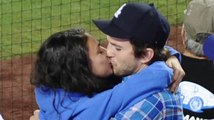 Ashton Kutcher & Mila Kunis Share Some PDA At A Dodgers Game