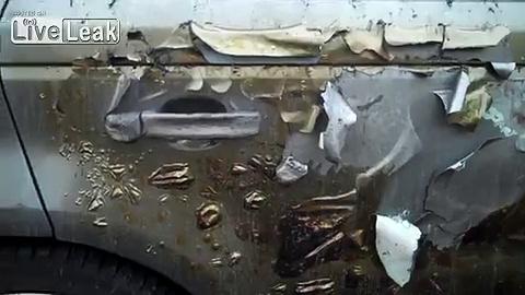 Range Rover Destroyed