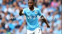 Everton Vs Manchester City 0 -2  Goals and Highlights  23rd August 2015 . Man City Vs Everton