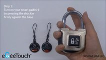 'How to' UNLOCK your eGeeTouch® Smart NFC Padlock using the Paired-NFC Smart Tag/Fob