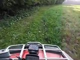 Having some fun on my 400 Arctic Cat 4 wheeler [through the creek] (part 2)....