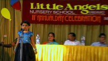 Ananya Pathak in Welcome Song in Annual Function in UKG