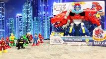 Transformers Optimus Primal with Batman and Superman Optimus Prime Transforms into Dinosaur
