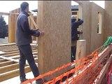 Montage d'une maison ossature bois aux Angles (66)