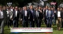 Nicolas Sarkozy, François Fillon et Alain Juppé arrivent à La Baule