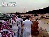Car Washed Away in Heavy Floods (KSA 2013)