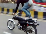 Dangerous bike accident-very very dangerous wheeling accident