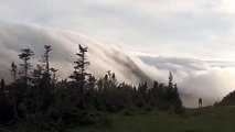 Awesome Rolling Fog Blankets Canadian Mountains