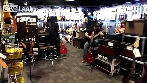 What Time Square Guitar Center sounds like