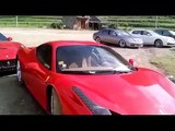 Supercars and luxury cars in countryside !