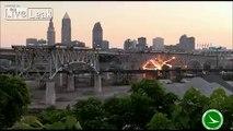 Blowing stuff up! Bridge demolition in Cleveland, Ohio