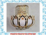 Modern Gold Crystal LED Pendant Lamp Ceiling Light Fixture Lighting Chandelier Lights