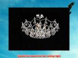 Modern White Elegant Flush Mount Light ceiling light crystal fea