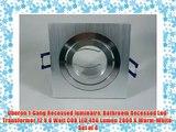 Oberon 1-Gang Recessed luminaire Bathroom Recessed Led-Transformer 12 V 6 Watt COB LED 450