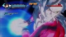 Dragonball Xenoverse- SSJ4 Goku and Vegeta vs. Beerus and Whis