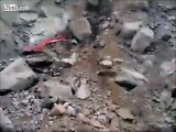 Diggers rock, rock, rock - more rocks, rock, rocks, landslide!