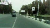 Traffic collision. Tajikistan, Dushanbe.