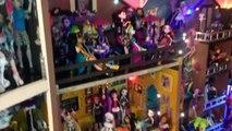 Monster High Doll House Tour Room 4 of 40+ WOLF DEN Sleeps Clawdeen Clawdia Howleen