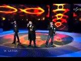 Eurovision SC Final 2007 - Latvia - Bonaparti.LV