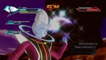 Dragon Ball Xenoverse PS4 gameplay - Whis, Lord Beerus and SSJ God Goku vs Cell, Frieza and Kid Buu