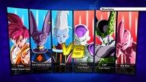 Dragon Ball Xenoverse PS4 gameplay - Whis, Lord Beerus, SSJ God Goku vs Cell, Frieza, Kid Buu #2