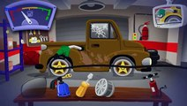 Wash Brown Car : Cartoon about Cars : Cartoon for boys : Machines for kids : Cars for kids