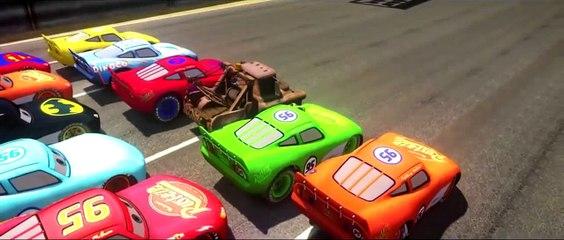 Disney Cars Lightning McQueen Spiderman Hulk Batman Toy Story Buzz Lightyear & Ramone Battle Race HD