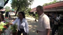 Clinton Bush Haiti Fund: President George W, Bush visits Haitian Clinic that served as Refugee Camp