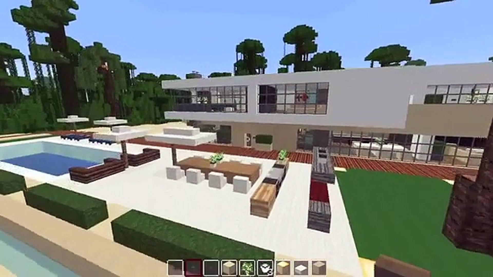 Minecraft Modern Stylish Beach House Tour Tutorial How To Build Video Dailymotion