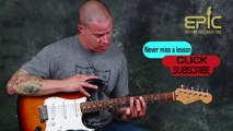 How to play Stevie Ray Vaughan SRV Intro to Little Wing lead guitar song lesson learn blues soloing