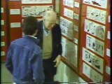 Milton Caniff tours The Museum of Cartoon Art, Rye Brook, NY (1986)