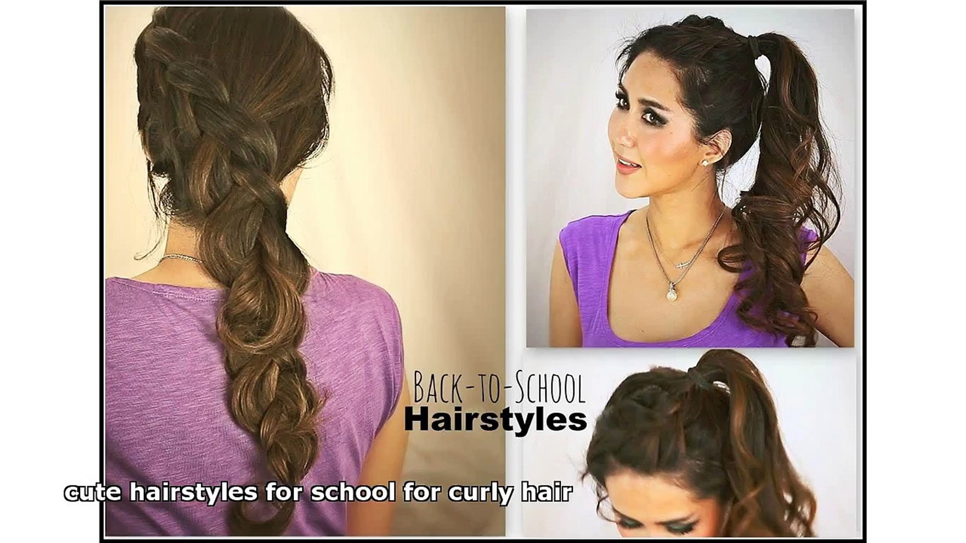 cute hairstyles for school for curly hair
