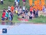 Record du monde : un moine shaolin court 125 mètres sur l'eau