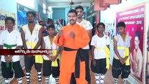 Nellore Girls Self-Defense Training Indian Martial arts Techniques AP Shaolin Kung-fu Warrior Monk