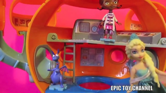 DOC McSTUFFINS PARODY Video  Afraid  with Queen Elsa, Octonauts and Peppa Pig by EpicToyChannel