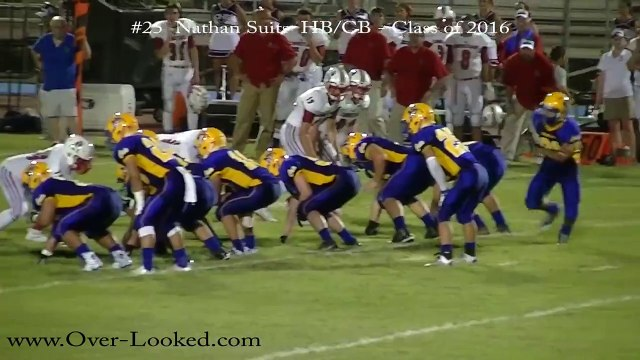 2016 NATHAN SUITS HB/CB: Game Video vs Christian HS