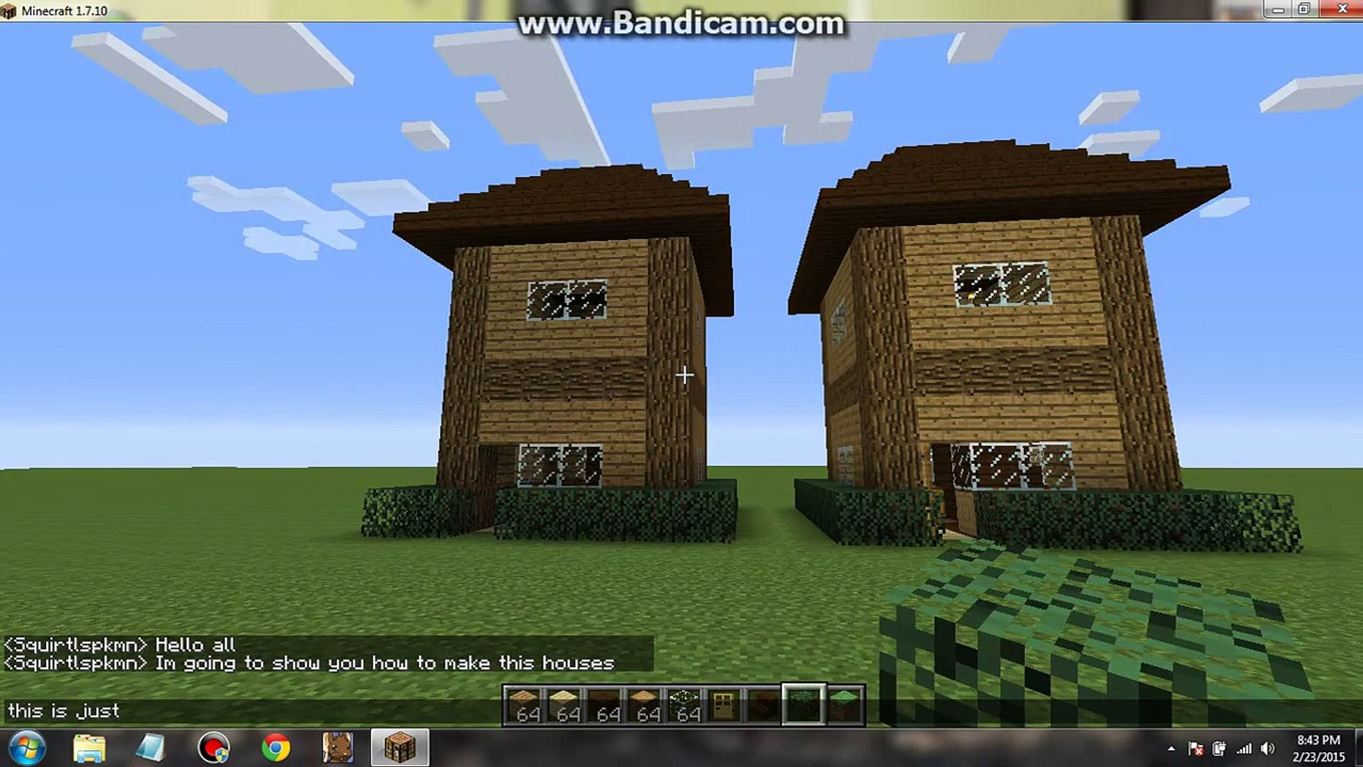 Cool Minecraft How To Make A Small Wooden House 7X7 Home Remodeling Inspirations Propsscottssportslandcom