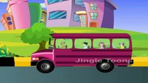 The Wheels On The Bus Go Round And Round Rhymes With Lyrics | 3D Nursery Rhymes For Children