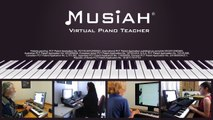 Musiah Online Piano Lessons - 90 Sec Video Demo: Piano Lessons Online