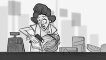 """3D Animated Short HD """"Cashier Fight"""" 2014 - First Animatic"""