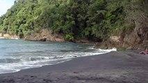 Vidéo Martinique: Plage de sable Noir de l'Anse Couleuvre ( Commune du Precheur en Martinique )