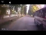 Road Accident Extremely Lucky Pedestrian