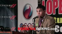 JuanMa Lopez responds to comments made by Wilfredo Vazquez Jr on ESPN (April 14th, 2011)